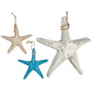 small polyresin sea star, colors 3 times s