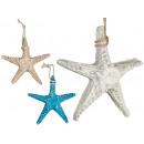 petite étoile de mer en polyrésine, couleurs 3 foi