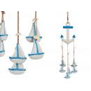 grossiste Chauffage & Sanitaire: ancre pendentif décor fil coques bateaux