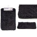 groothandel Bad- & handdoeken: antislip mat zwart haar 40x60