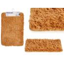 groothandel Bad- & handdoeken: antislip mat donkerbeige haren 40x60