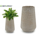 wholesale Flowerpots & Vases: conical rectangular relief ceramic vase