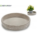 wholesale Garden Furniture: plate small wicker relief cement