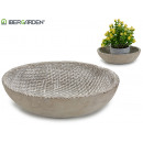 plate wicker circle relief cement