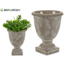 wholesale Drinking Glasses: Cement cup with palm leaf deco