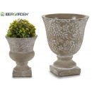 wholesale Drinking Glasses: small cement cup deco flowers