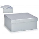 large silver cardboard box