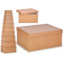 set of 10 kraft cardboard boxes