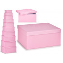 set of 10 pastel lilac cardboard boxes