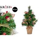tree balls and leaves christmas