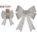 decorative silver bow 33 x 33 cm assorted