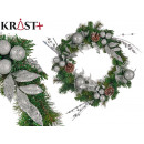 green and silver wreath christmas decoration