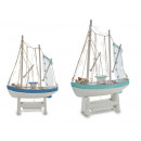 wooden boat fishing support 2col assorted