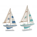 wooden boat sailboat big star 2col assorted