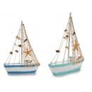Piccola barca da pesca rotonda in legno 2col assor