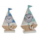 groothandel Klokken & wekkers: boot horloge 2 kleuren geassorteerd