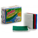 wholesale Cleaning: set of 10 colored scouring pads 4 times assorted