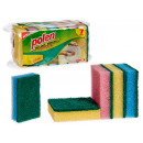 wholesale Cleaning: set of 7 scourers with sponge 4 times assorted