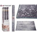 tappeto grigio 133x190cm con macchie d'argento