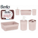 wholesale Bath Furniture & Accessories: 3 piece set pink bathroom plastic stick