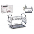 dish rack with two layers anthracite