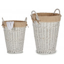 wholesale Other: round wicker wardrobe w / white handles