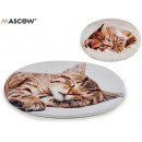 oval crib rug cats, models 2 times surti