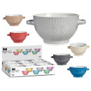 bowl consome 680ml baroque relief, colors 6 times