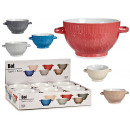 wholesale Crockery: bowl consome 680ml relief point south 6 colors