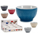 breakfast bowl 680ml embossed stitch, 6 fold color