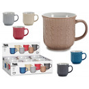 grossiste Tasses & Mugs: American cup 460ml embossed punt, colours 6 times