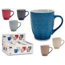 XL cup 550ml embossed dot assorted 6 colors