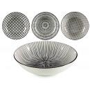 plate deep black porcelain, 4 times surti models