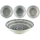 plate deep gray porcelain, 4 times assorted model