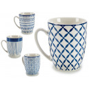 wholesale Houseware: blue porcelain cup, 4 times assorted Models