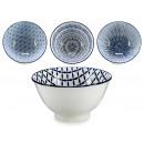 ciotola in porcellana blu, 4 volte assortito model