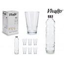 set da 1,1 lt bottiglia di vetro e 4 bicchieri