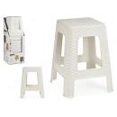 stool white rattan plastic