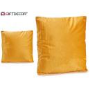 wholesale Cushions & Blankets: cushion 45x45 velvet mustard