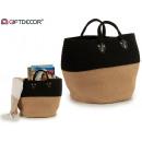 oval basket black sack