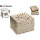 boîte à bijoux carrée avec des branches d'or 1