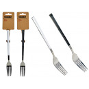 black and white handle fork assorted