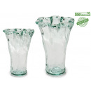 glass vase artisana curly d19 h26