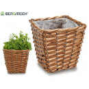 wicker basket with square handles