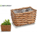 wicker basket without handles rectangular