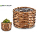 round wicker basket without handles