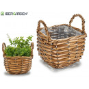square conical wicker basket