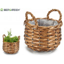 round conical wicker basket