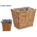 medium conical rectangular wicker basket