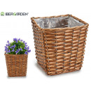 wicker basket medium square conical
